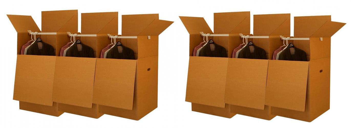 Гардеробная коробка для переезда и хранения одежды