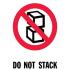 Наклейка «Не складировать», 4 шт.