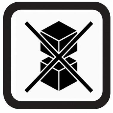Наклейка «Не штабелировать», 1 шт.
