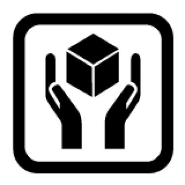 Наклейка «Бережное обращение», 1 шт. 10х10