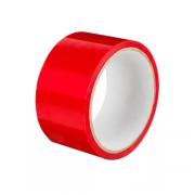 Клейкая лента красная, рулон 50 метров